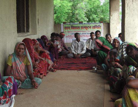 Jagadish Adiwasi in a Community Meeting